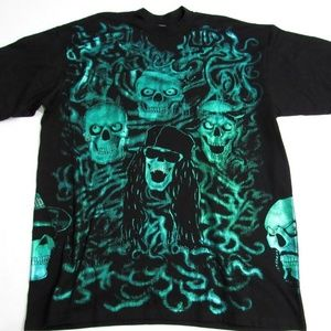 Other - Da Grind Club 21 T-Shirt Skull Graphic Tee